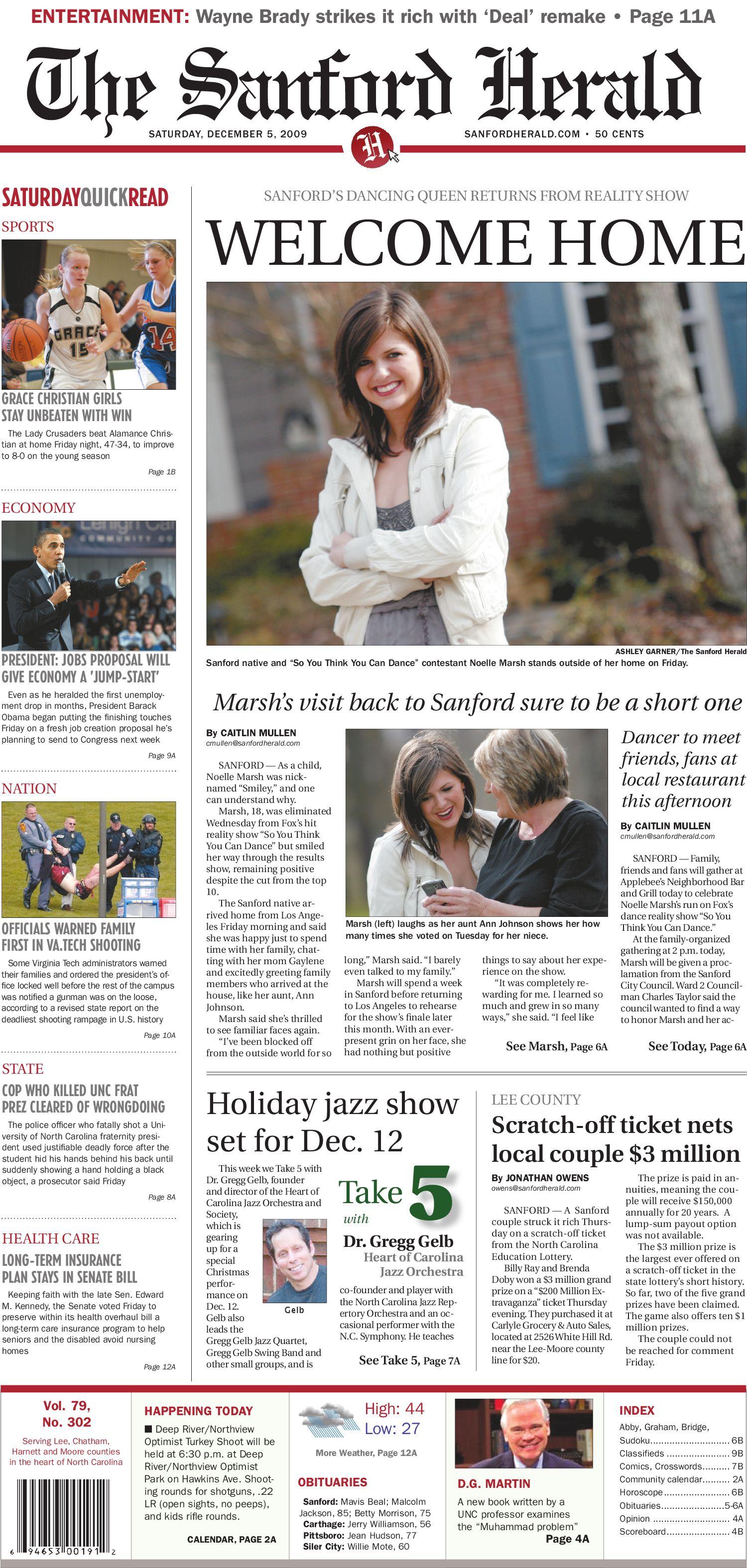 December 5, 2009 by The Sanford Herald - issuu