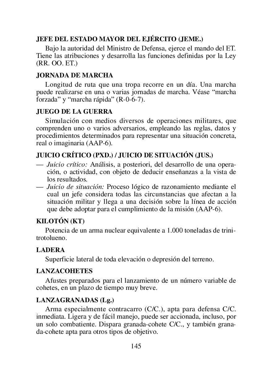 Glosario de términos militares by Reservistas Voluntarios - issuu