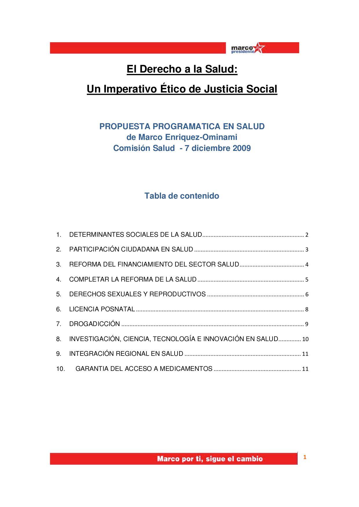 Resumen Propuesta de Salud by Marco Enríquez-Ominami - issuu