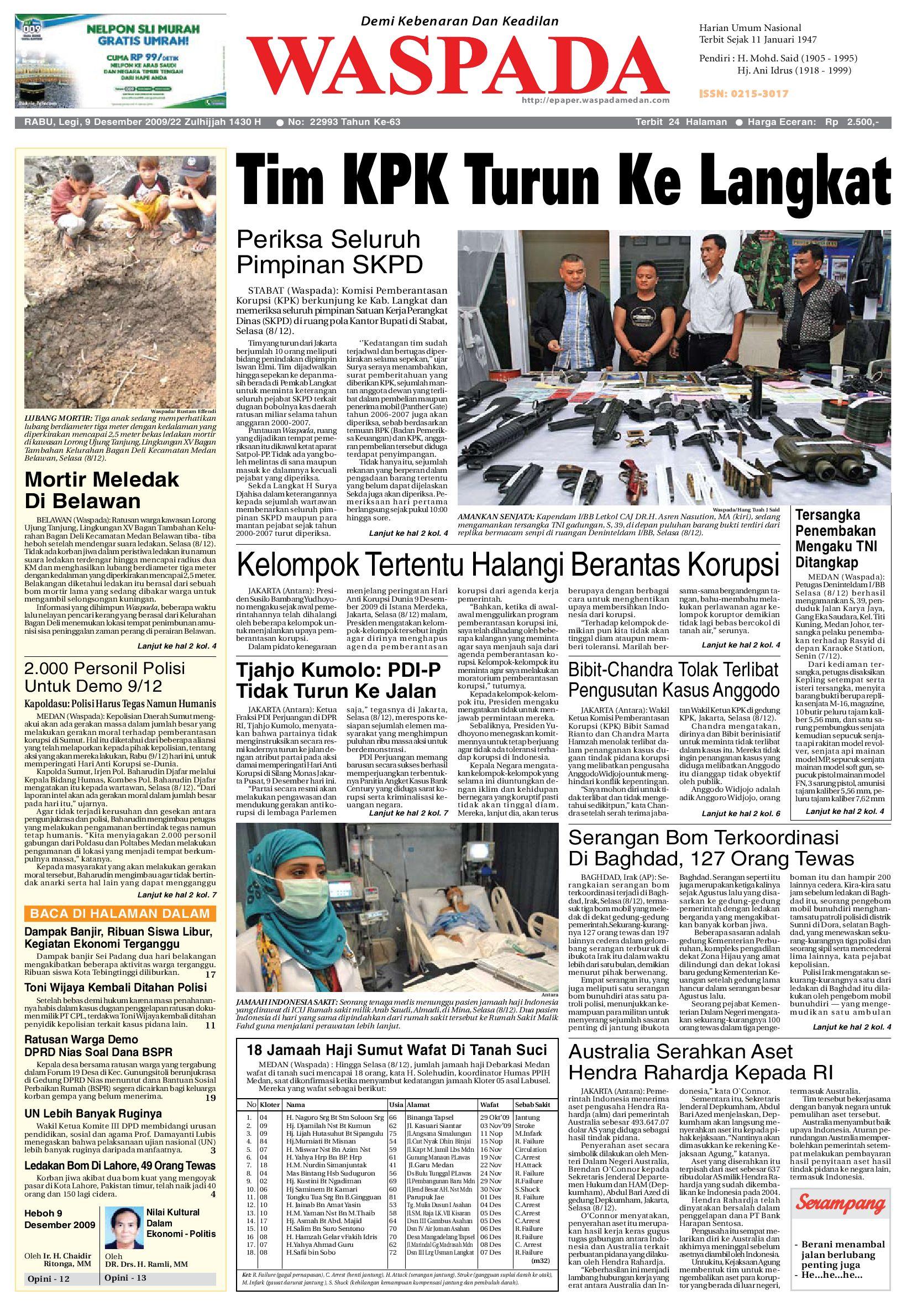 waspada rabu 9 desember 2009 by harian waspada issuu  ungu religi 2008 chevrolet.php #12