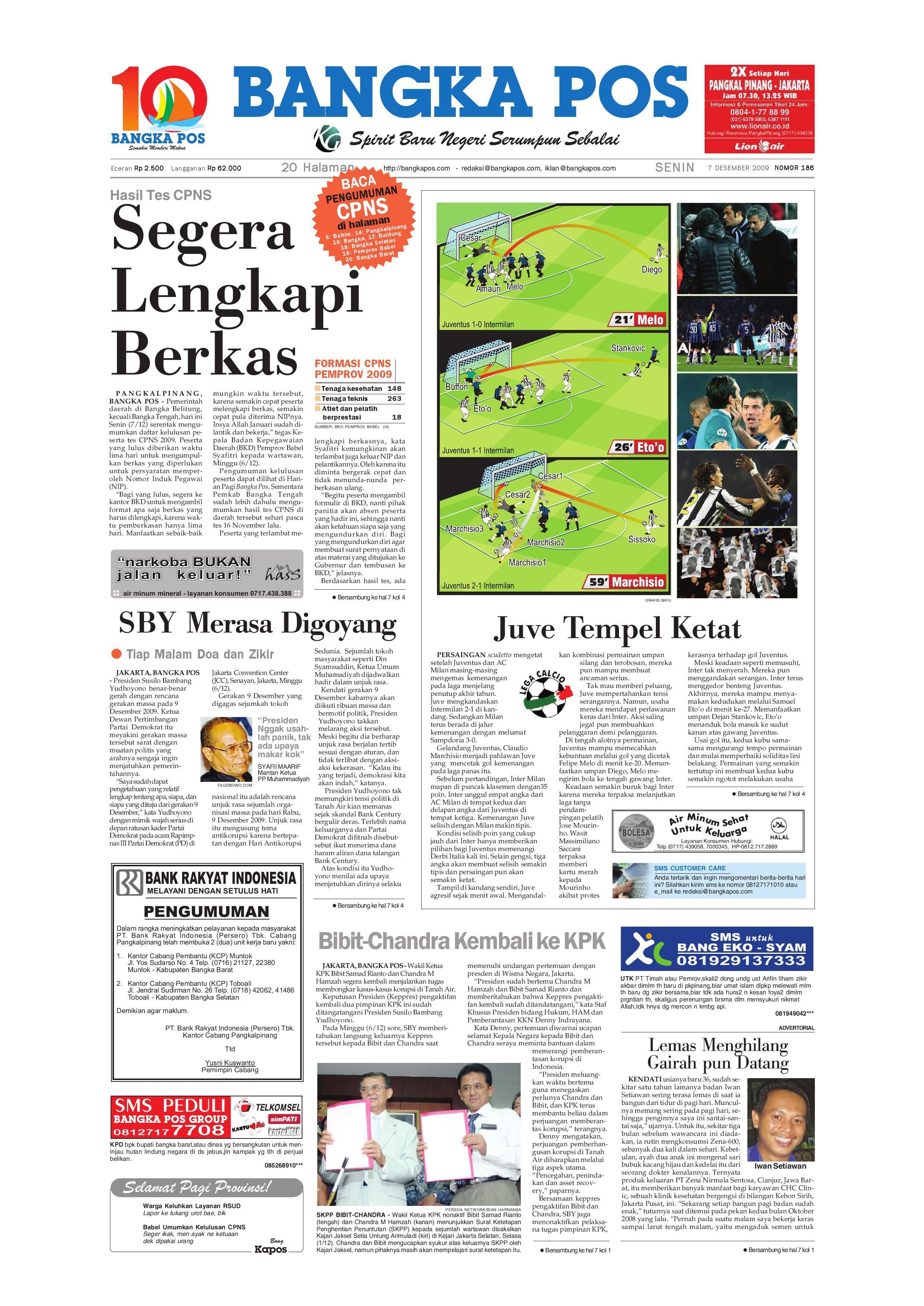 Harian Pagi Bangka Pos Edisi 07 Desember 2009 by bangka pos - issuu 848a3af075
