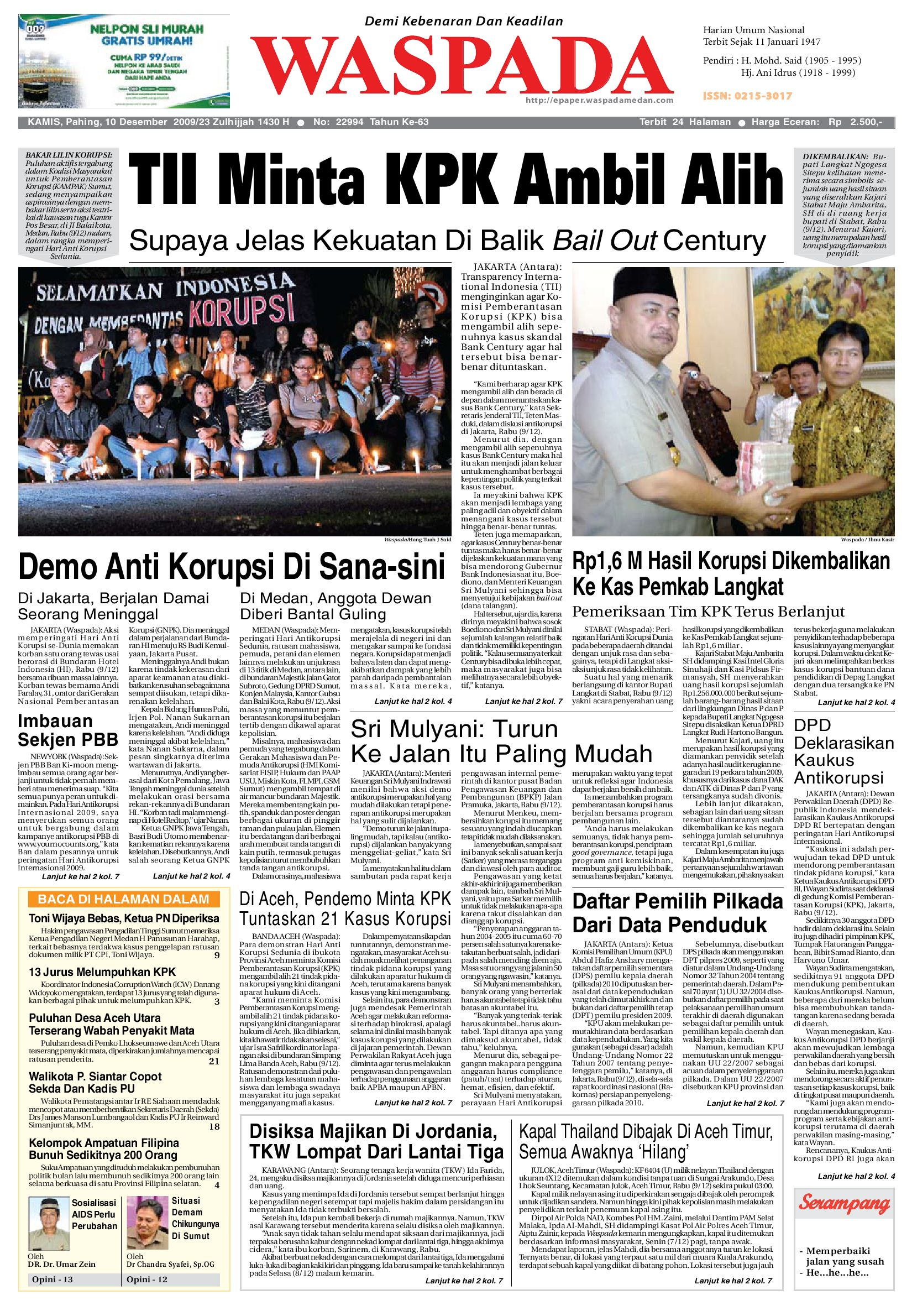 Waspada Kamis 10 Desember 2009 by Harian Waspada - issuu cc3dbe03ca