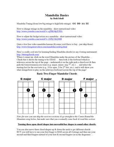 Mandolin Basics By Beth Isbell Issuu
