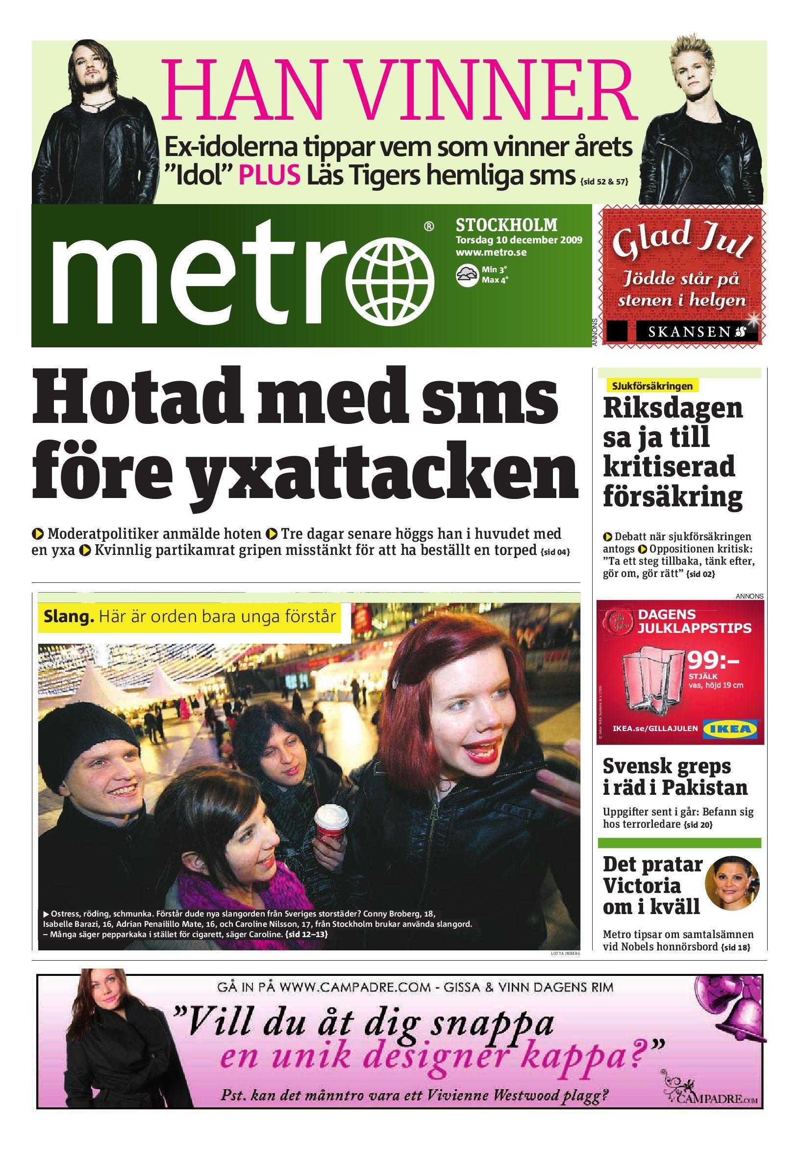 low priced 05ea2 e3dcf http   www.readmetro.com media archive pdf 20091210 Stockholm by Metro  International - issuu
