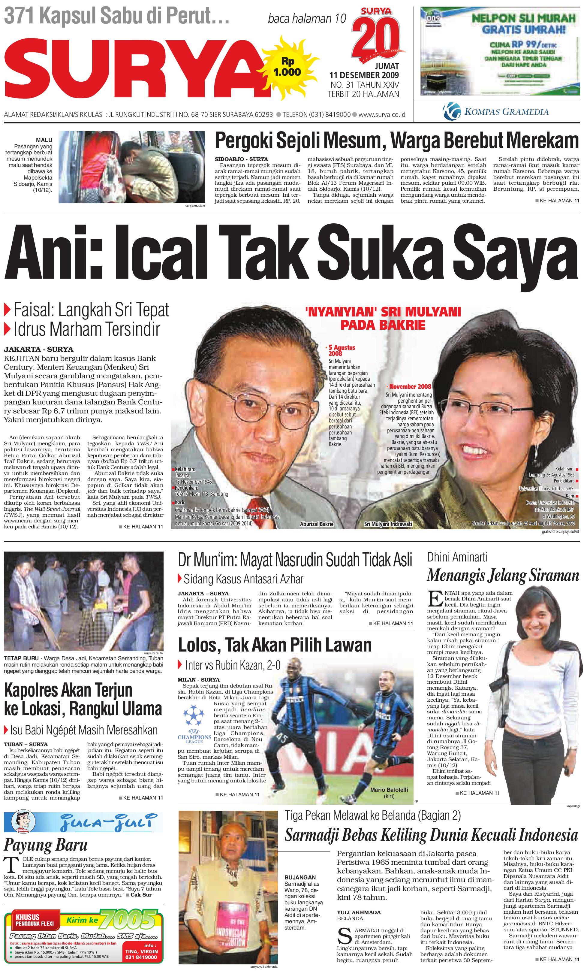 surya edisi cetak 11 des 2009 by harian surya issuu