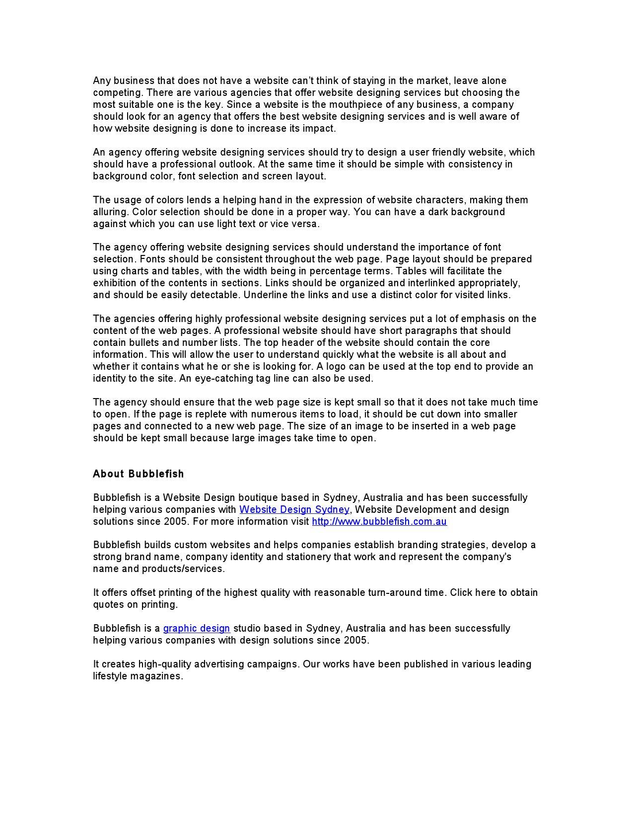 Professional Website Design Agency Bubblefish By Bubblefish Australia Issuu