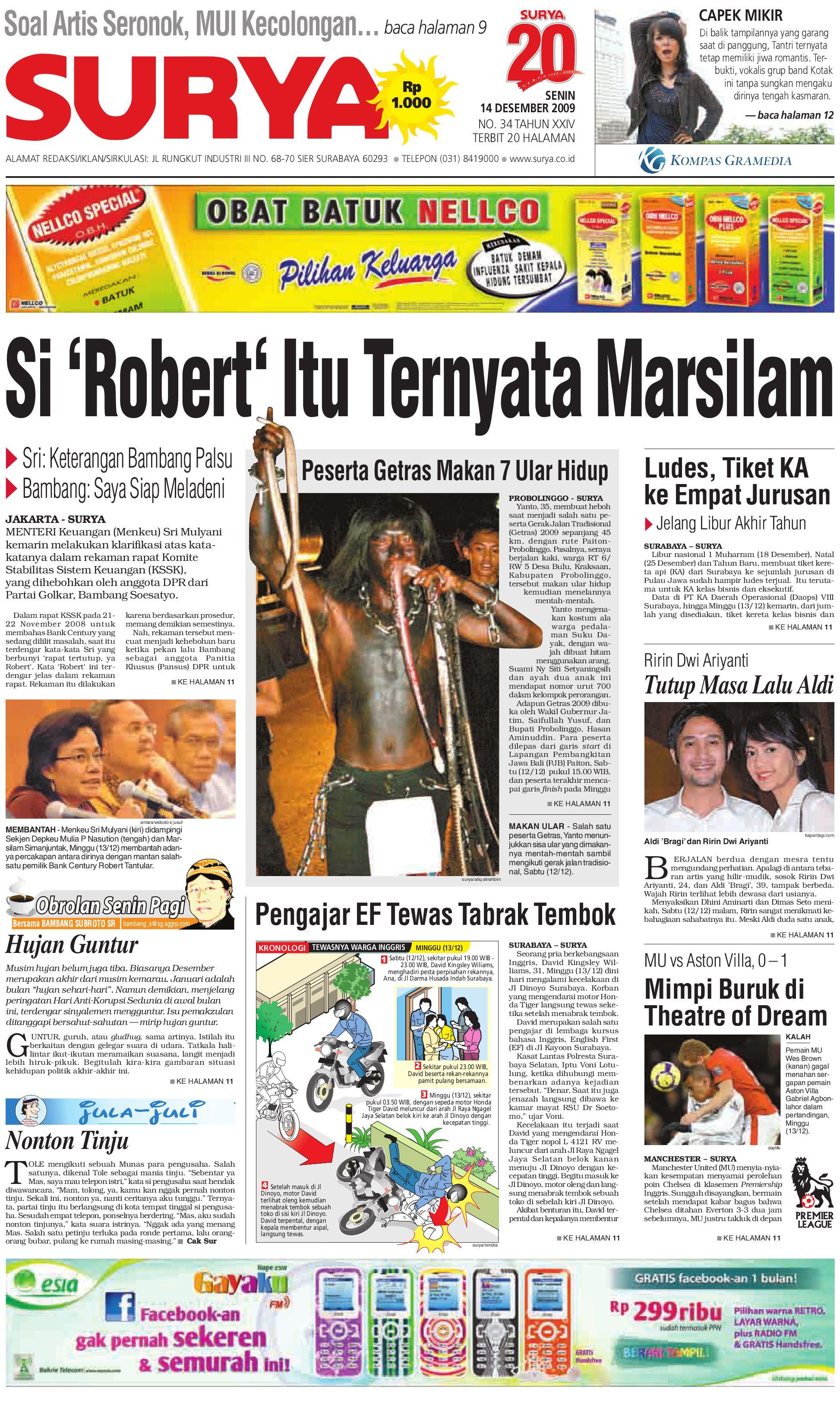 SURYA Edisi Cetak 14 Des 2009 by Harian SURYA - issuu 249b2a3e98