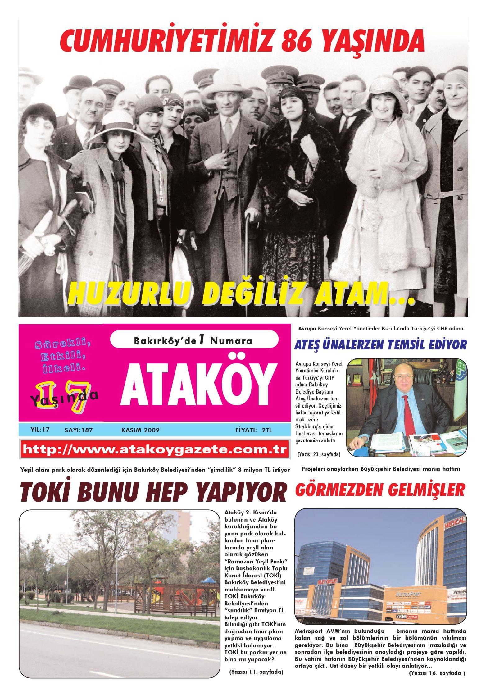 Atakoy Gazete Kasim 2009 By Gokhan Atamer Issuu