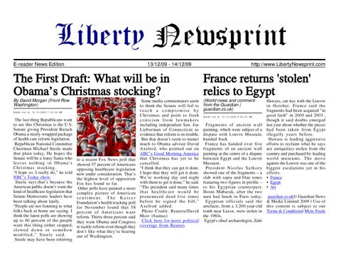 Liberty Newsprint Dec-14-09 by Liberty Newspost - issuu
