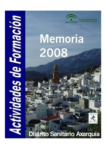 Memoria Actividades Formacion Continuada 2008 By Formacion