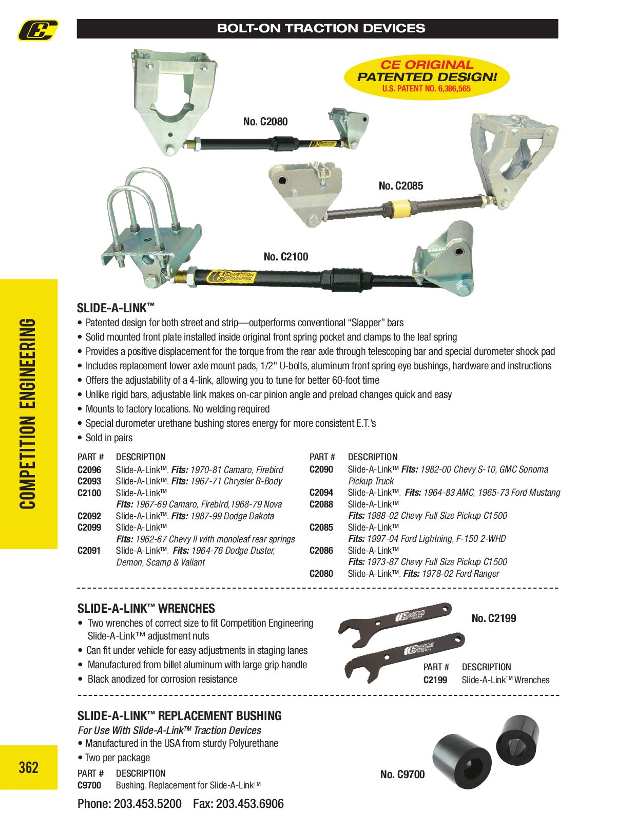 Competition Engineering C2099 Slide A-Link Traction Kit