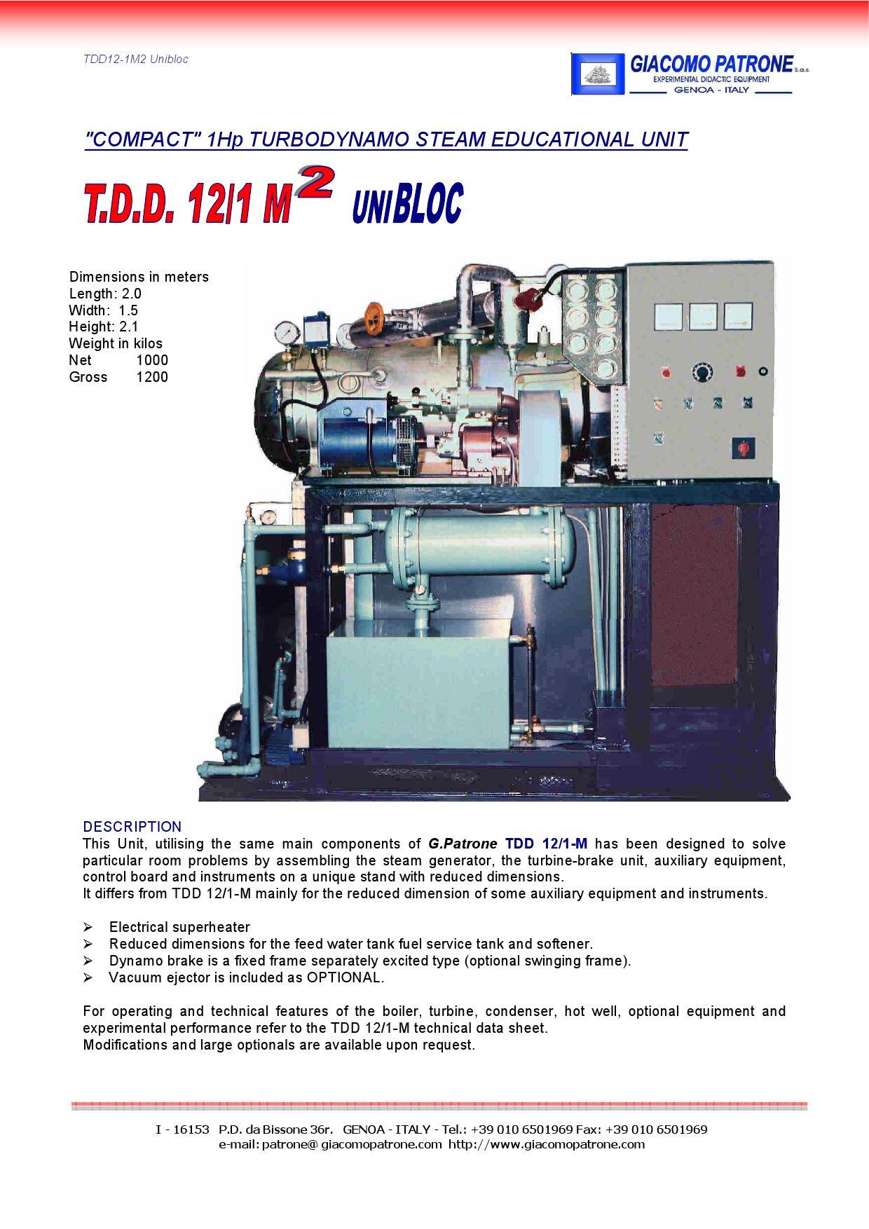 TDD12 1M2 Unibloc by ruben reyes issuu