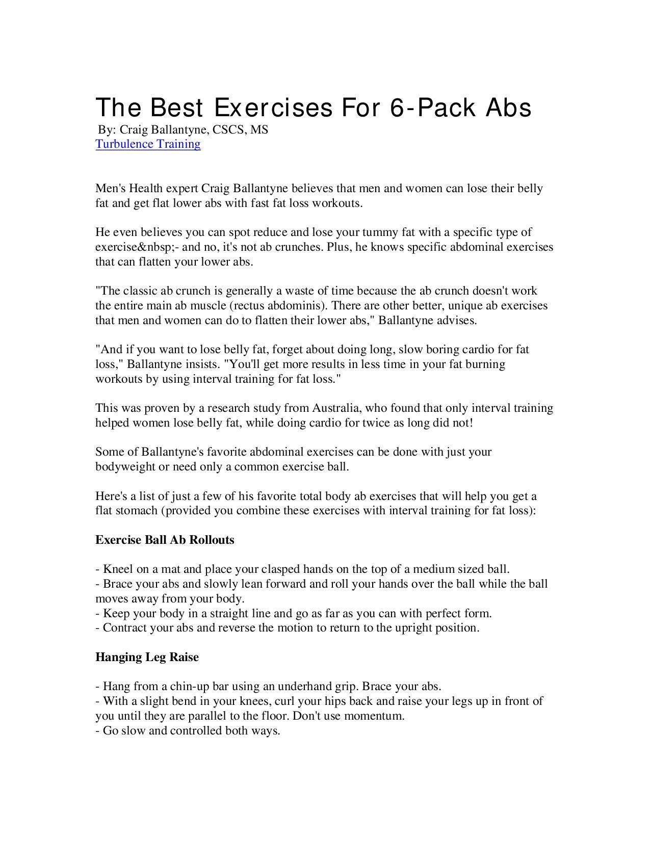 The Best Exercises For 6-Pack Abs by james thompson - issuu