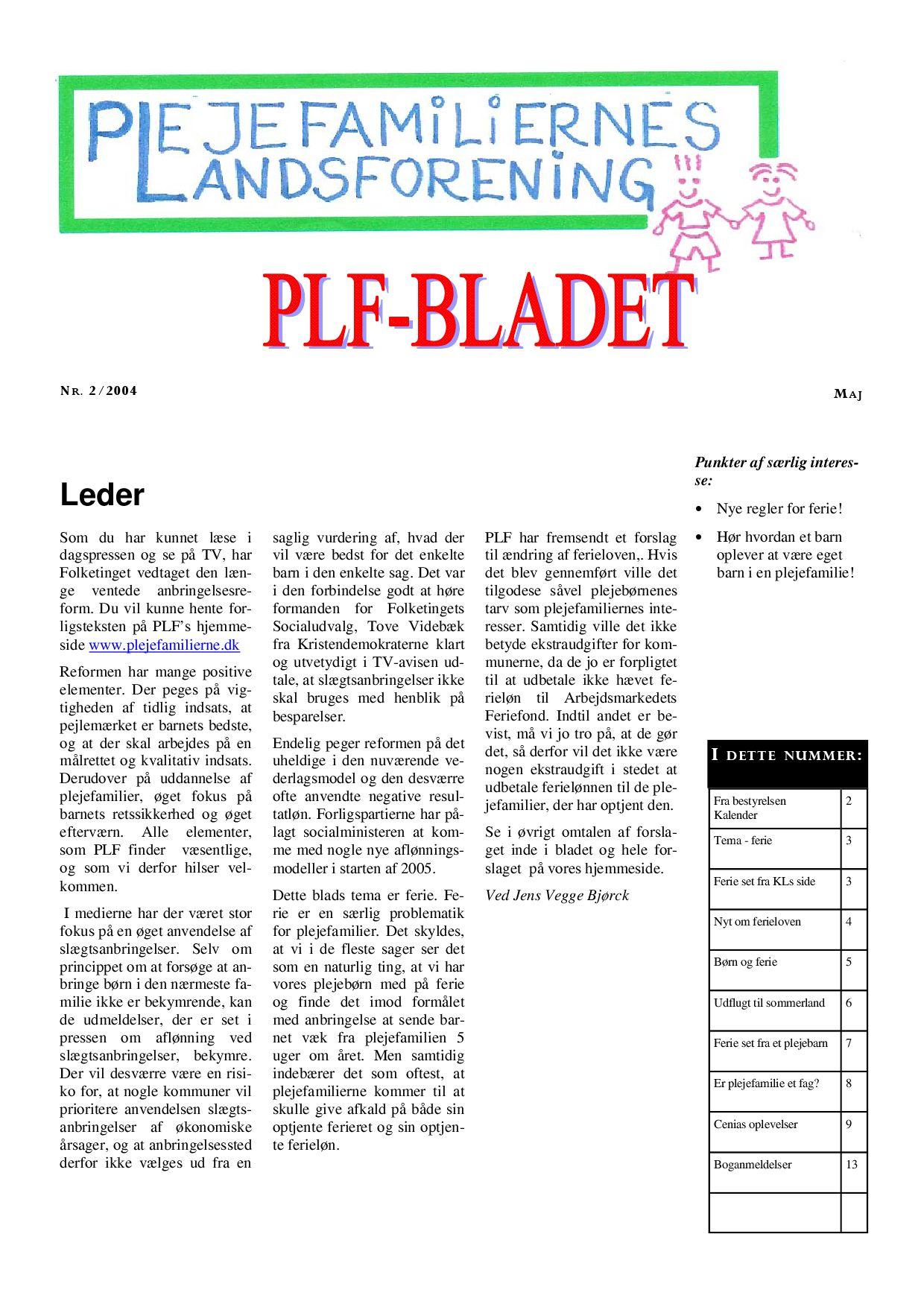 plf bladet nr 2 2004 by plejefamiliernes landsforening issuu