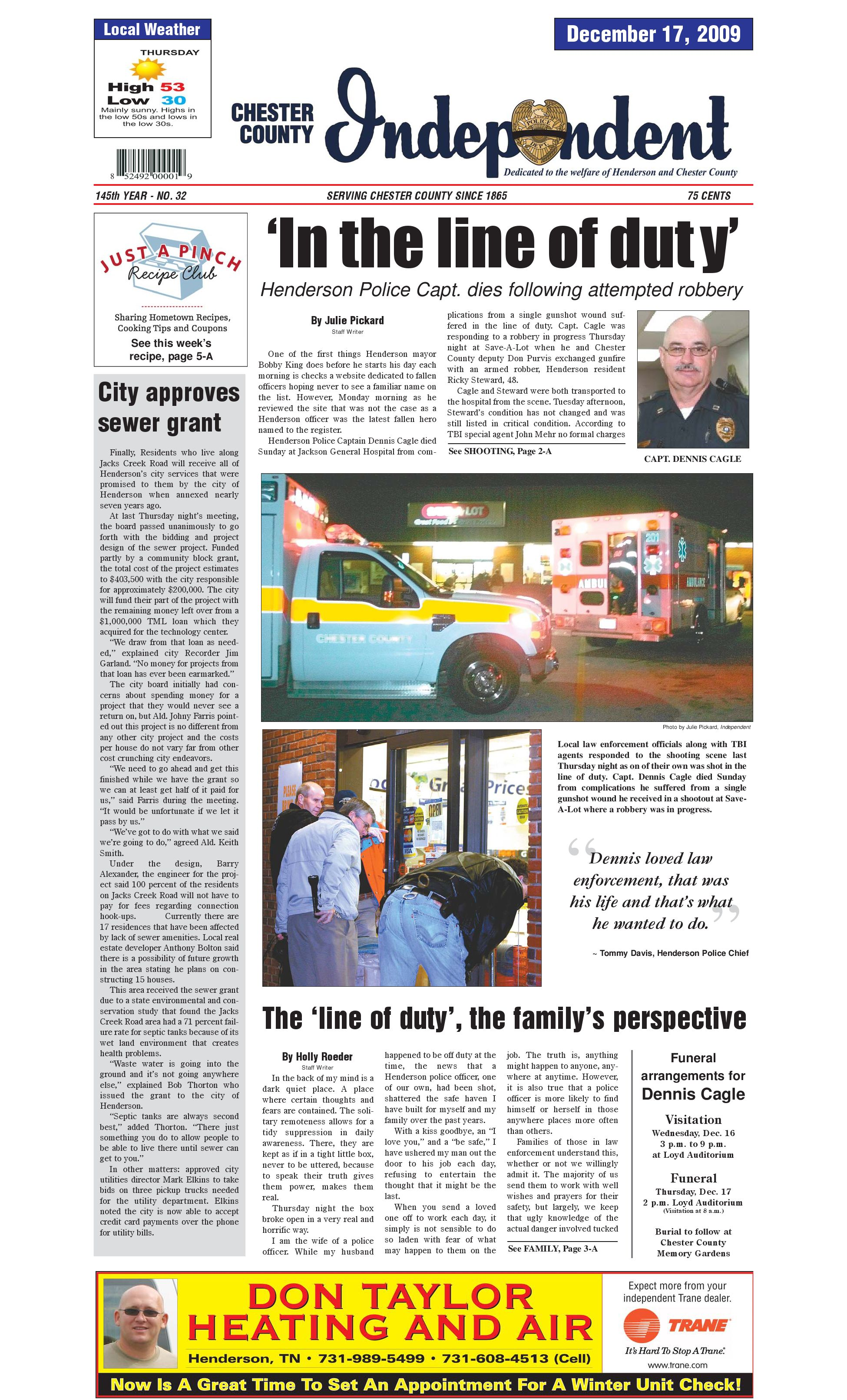 Tennessee chester county enville - Chester County Independent 12 17 09 By Chester County Independent Issuu