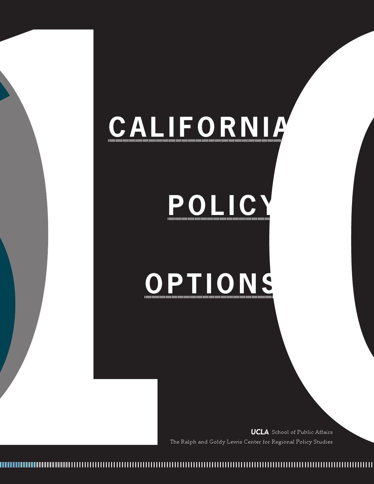 California Policy Options 2010 by UCLA Luskin School of Public