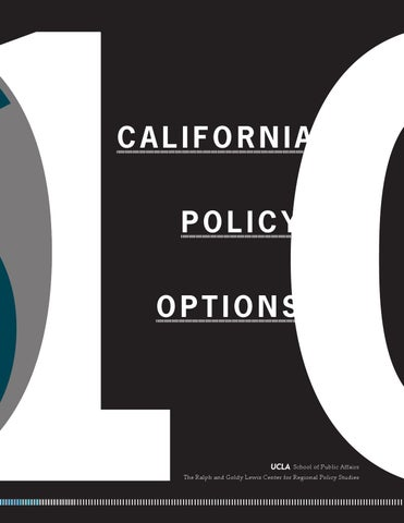 9b8b41fbf7d California Policy Options 2010 by UCLA Luskin School of Public ...