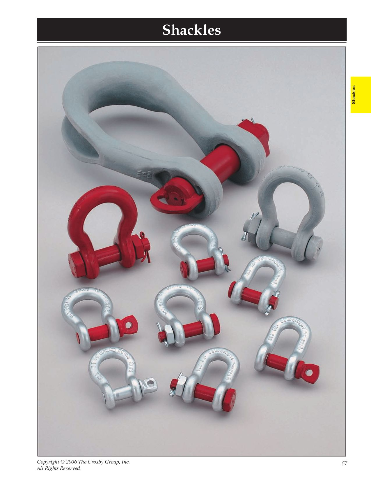 Galvanized 35 Ton Working Load Limit Crosby 1019098 Carbon Steel G-215 Round Pin Chain Shackle 2 Size