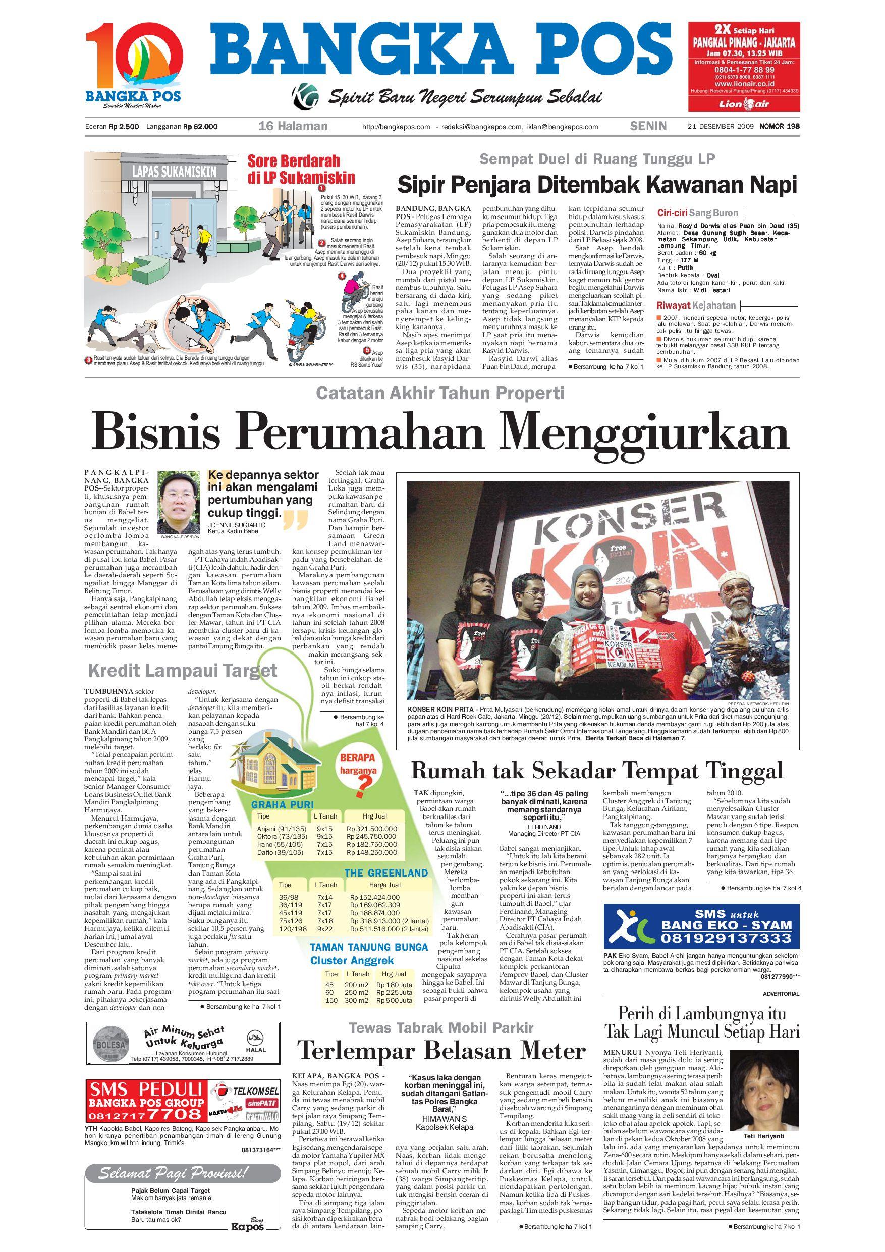 Harian Pagi Bangka Pos Edisi 21 Desember 2009 By Issuu Parcel Makanan Ampamp Keramik Pja 1608