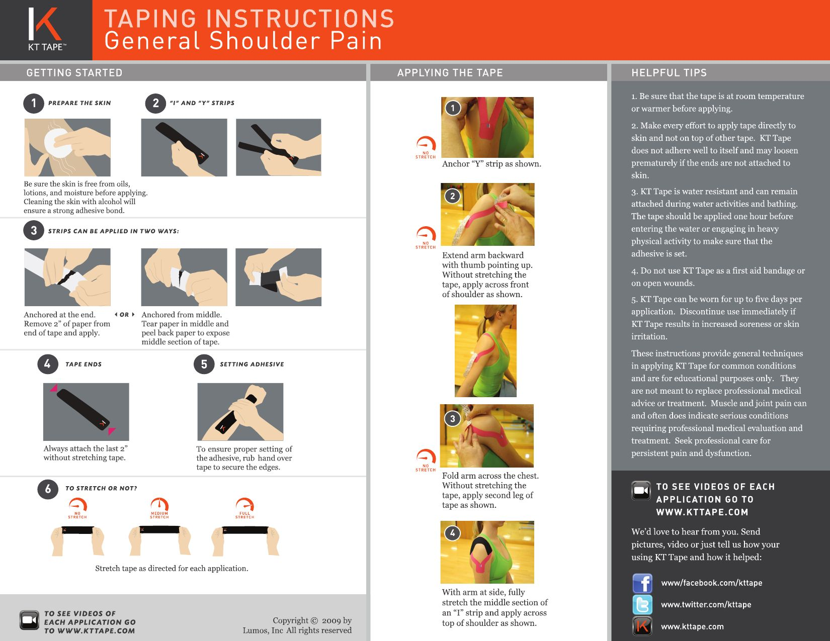 General Shoulder Pain KT Tape instructions by KT Tape - issuu