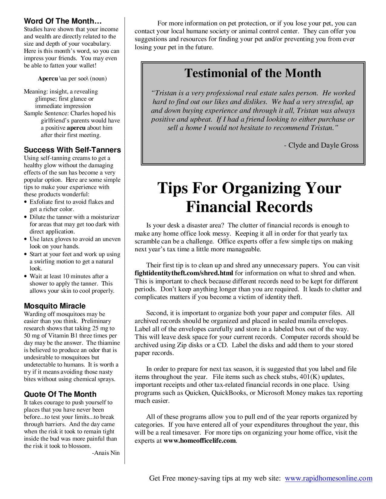 February 2009 Newsletter by Tristan Emond - issuu
