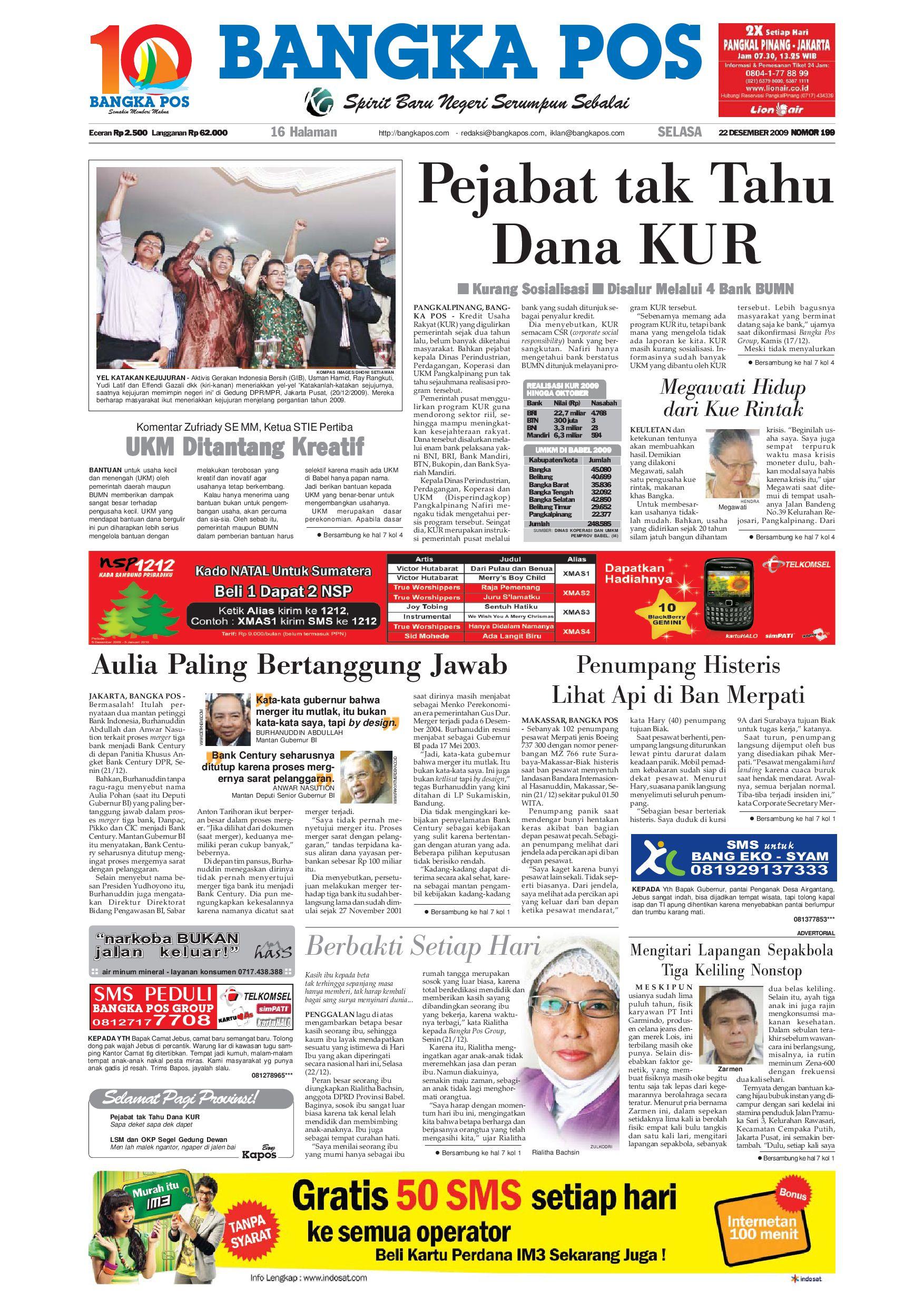 Harian Pagi Bangka Pos Edisi 22 Desember 2009 By Issuu Parcel Makanan Ampamp Keramik Pja 1608