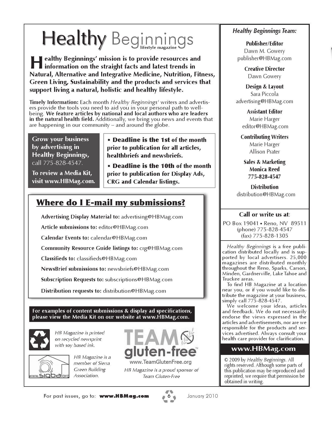 January 2010 HB Mag by Healthy Beginnings Magazine - issuu