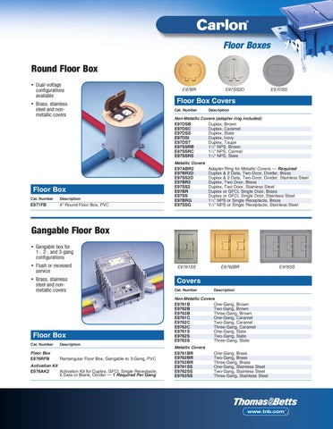 Floor Boxes Round Floor Box U2022 Dual Voltage Configurations Available U2022  Brass, Stainless Steel And Nonmetallic Covers
