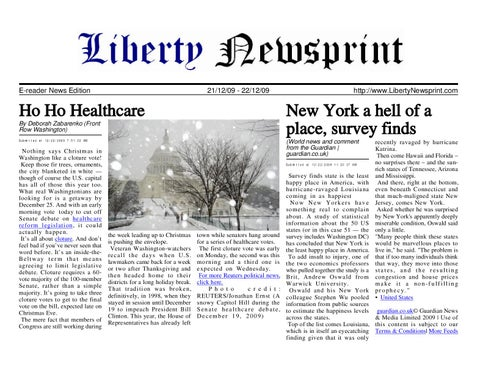 Liberty newsprint dec 22 09 by liberty newspost issuu page 1 fandeluxe Gallery