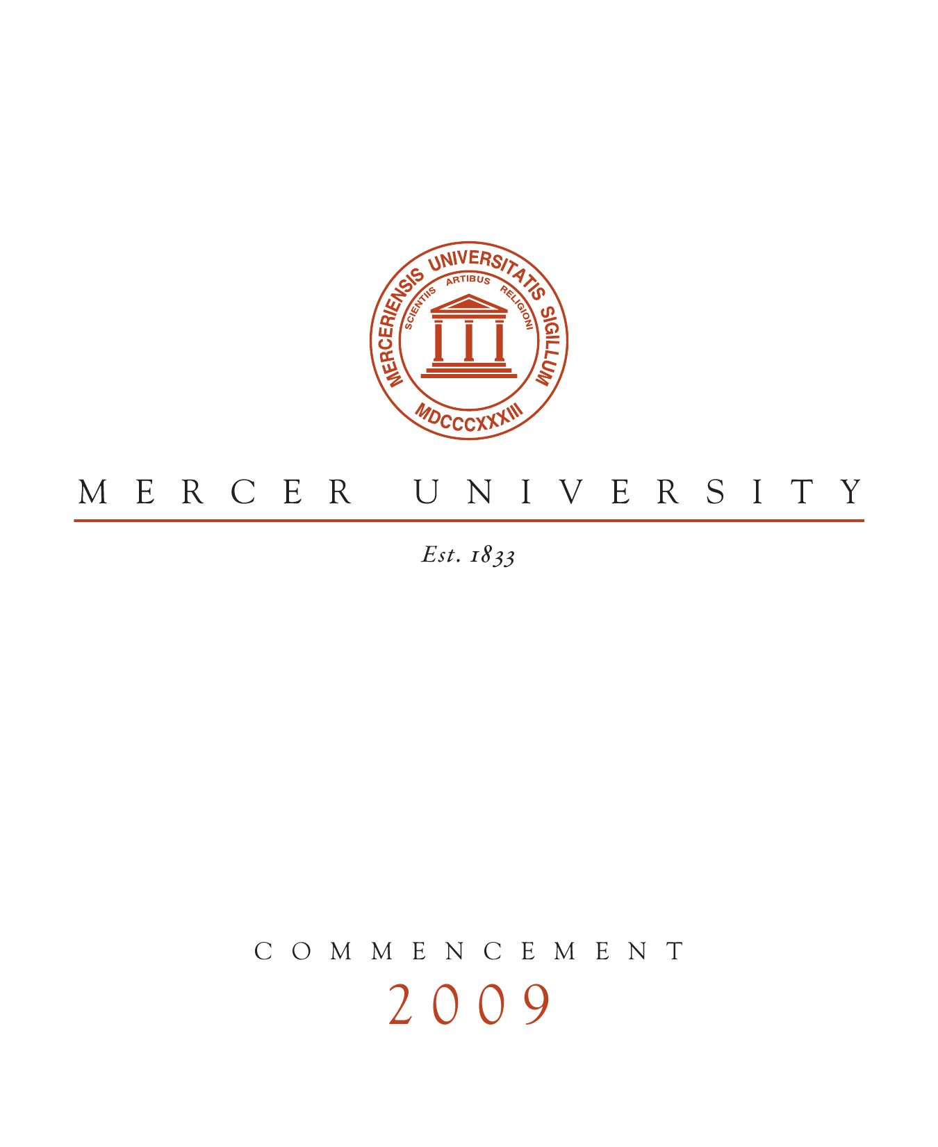 Mercer 2009 Commencement Program by Matthew Smith - issuu 7a5247f765e8