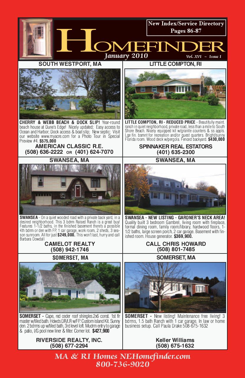 New england homefinder january issue by new england for American classic guest house nye beach