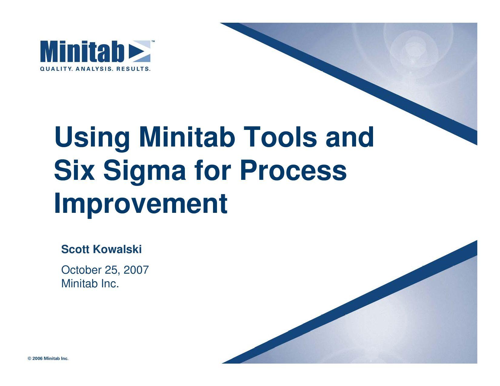 Using minitab tools andsix sigma for processimprovement by using minitab tools andsix sigma for processimprovement by blackberrycross issuu nvjuhfo Images