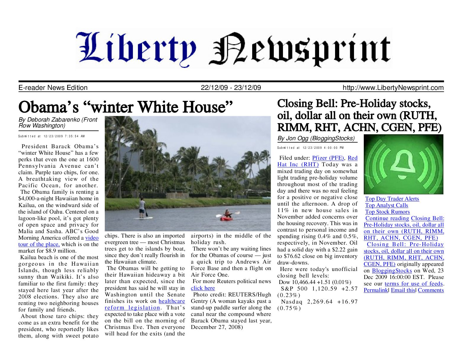 Liberty newsprint dec 23 09 by liberty newspost issuu fandeluxe Gallery