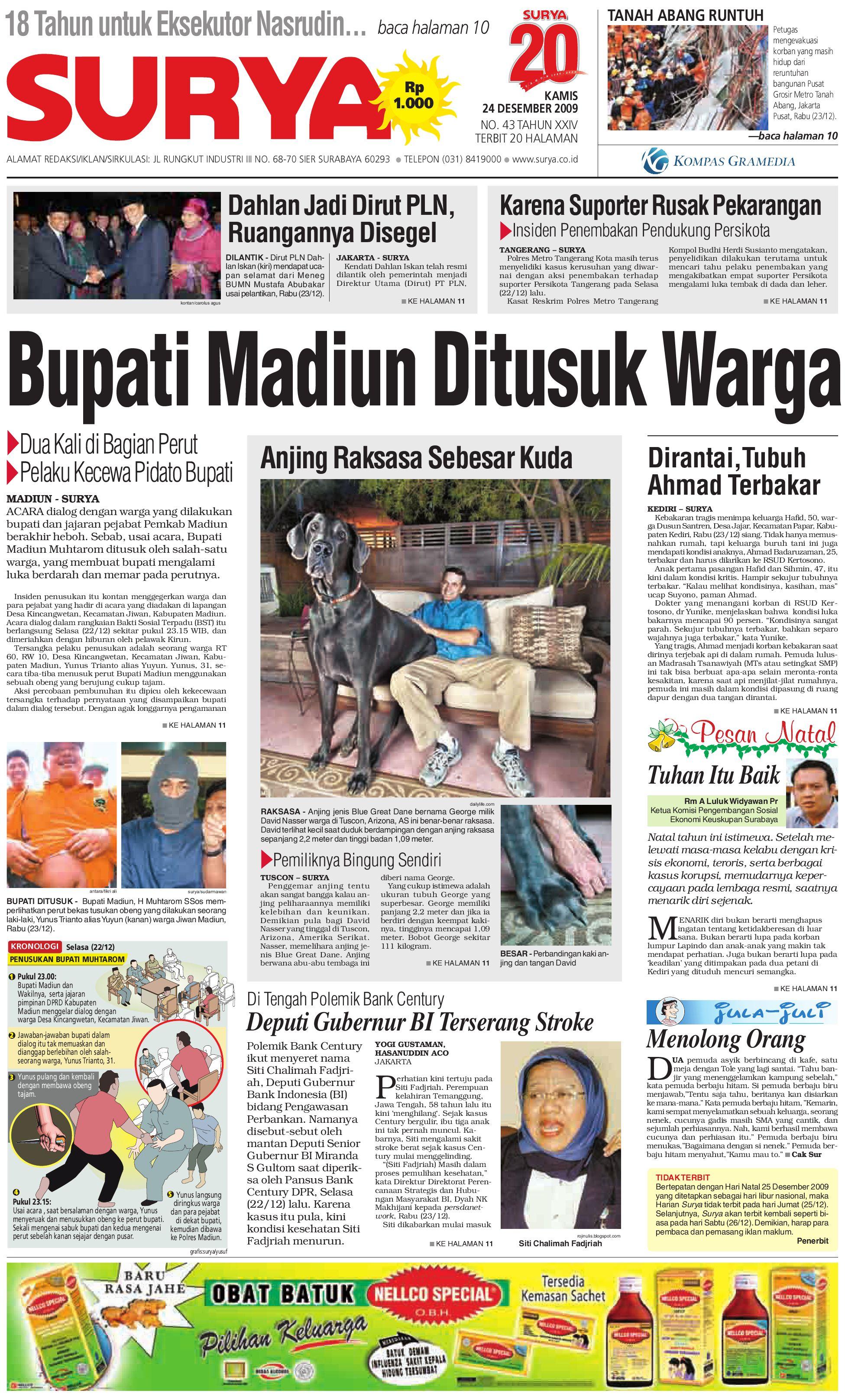 surya edisi cetak 23 okt 2009 by harian surya issuu