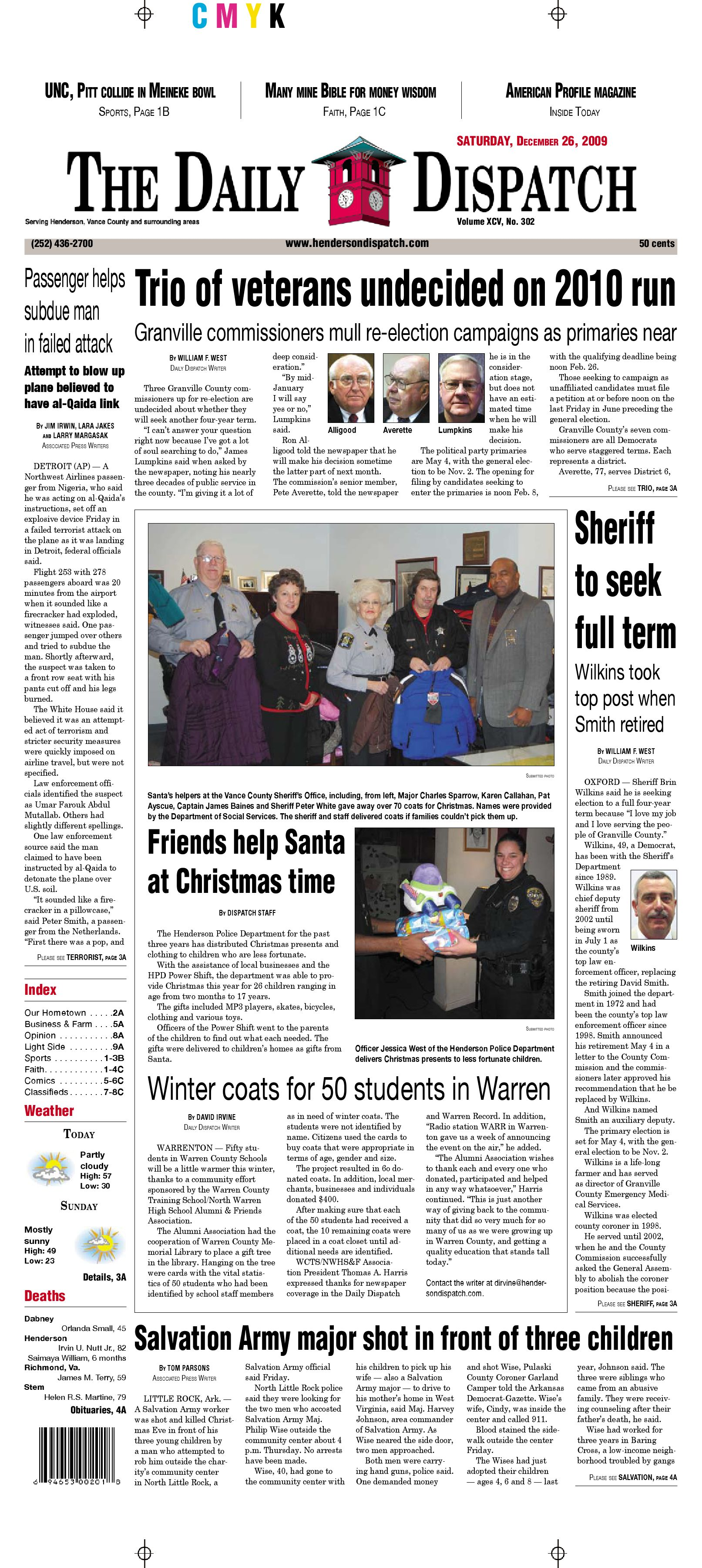 The Daily Dispatch - Saturday, December 26, 2009 by The Daily Dispatch -  issuu