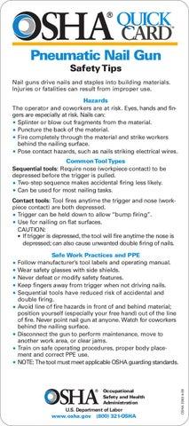 Pneumatic Nail Gun Safety Tips Quickcard Osha 3363 2009