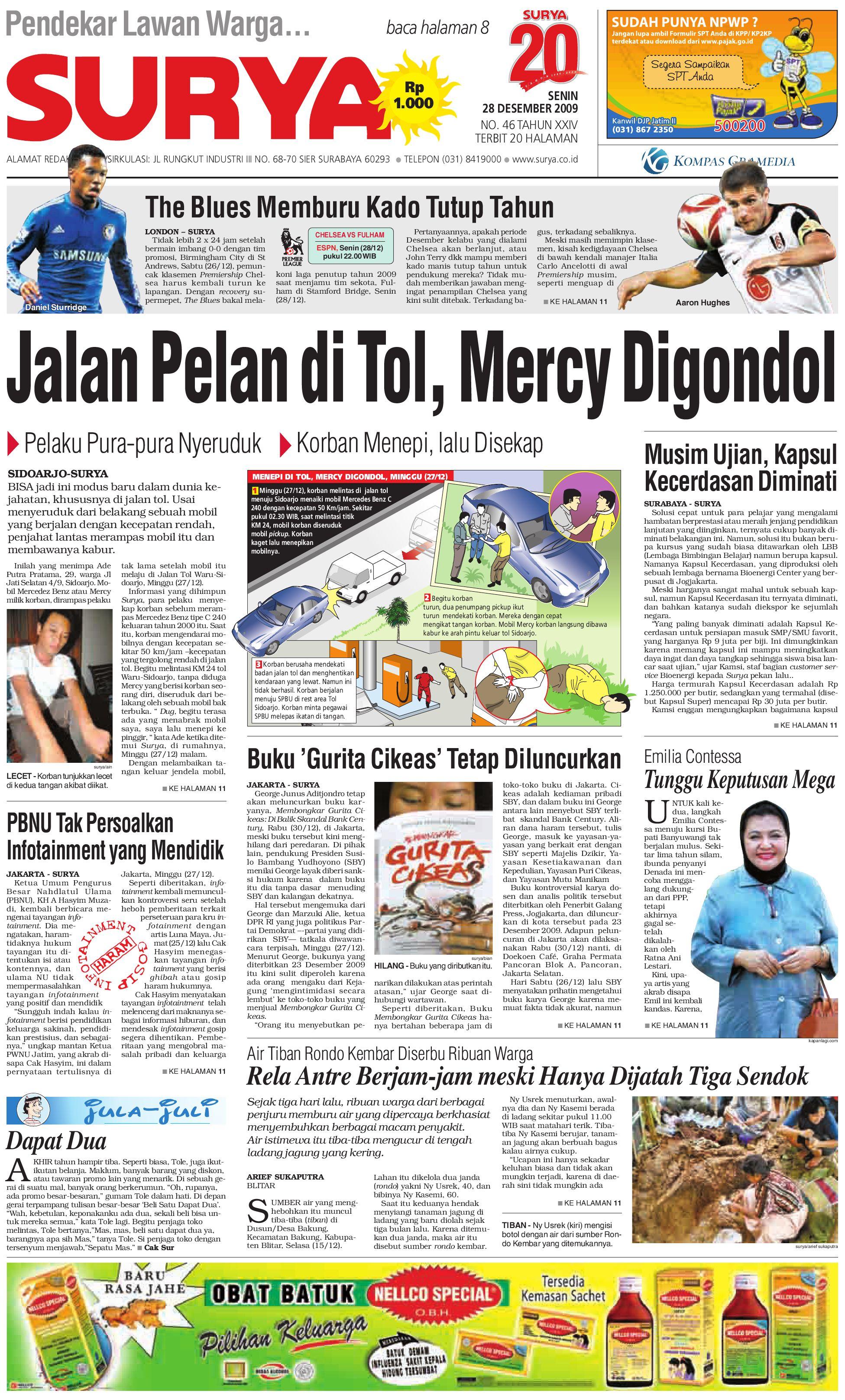 Surya Edisi Cetak 28 Des 2009 by Harian SURYA - issuu 499b4f508d