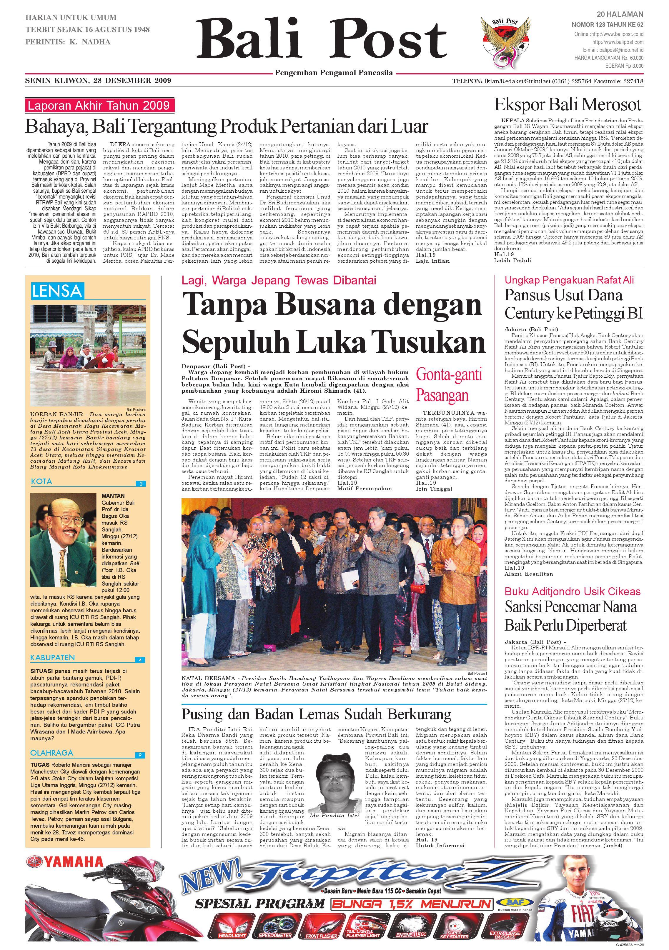 Edisi 28 Desember 2009 Balipostcom By E Paper Kmb Issuu Produk Ukm Bumn Bakso Ikan Tuna Khas Ambon