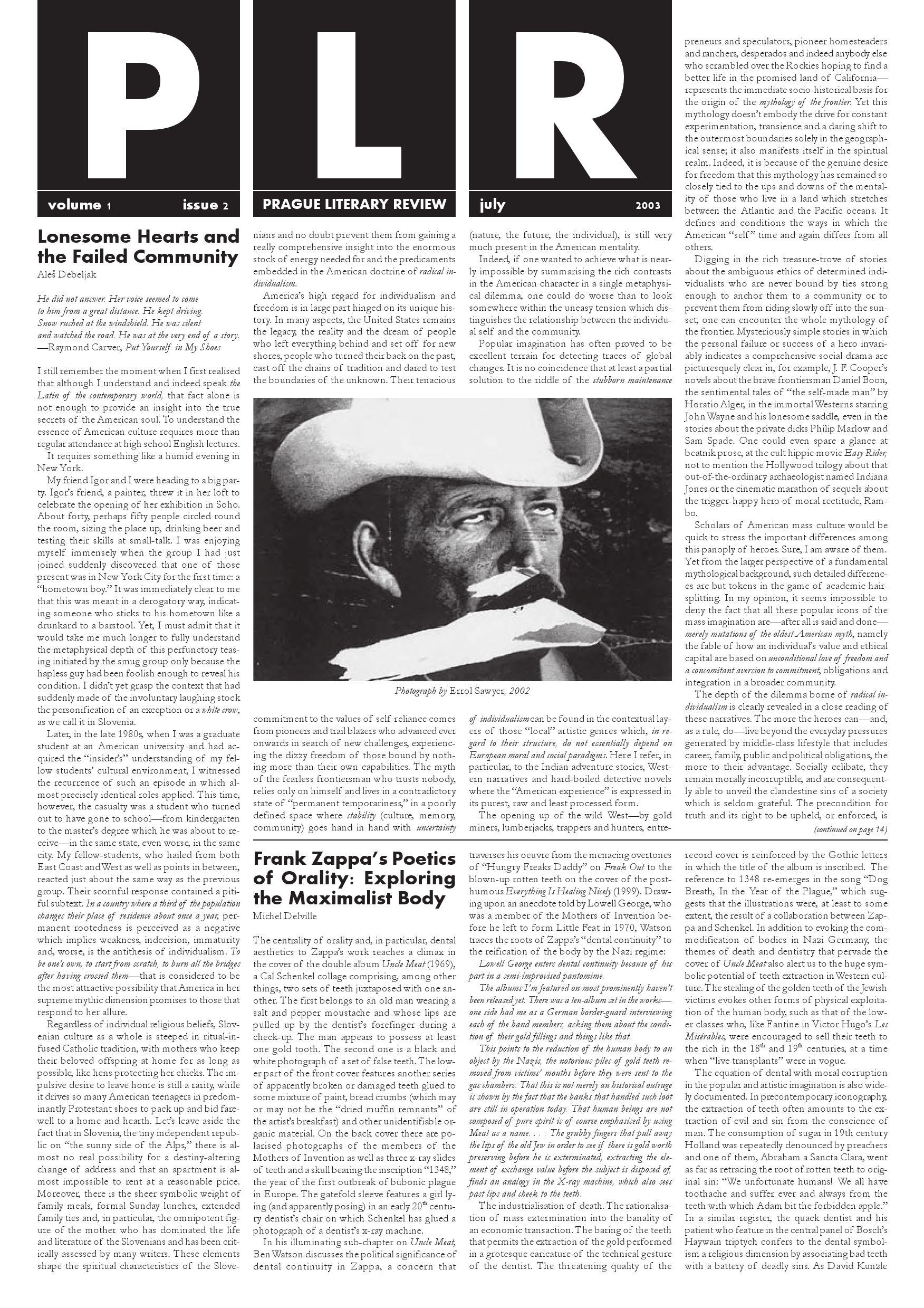 Plr vol 1 no 2 july 2003 by litteraria pragensia issuu