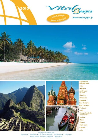 b55ce29b38de6 Catalogue 2010 by Vital Voyages - issuu