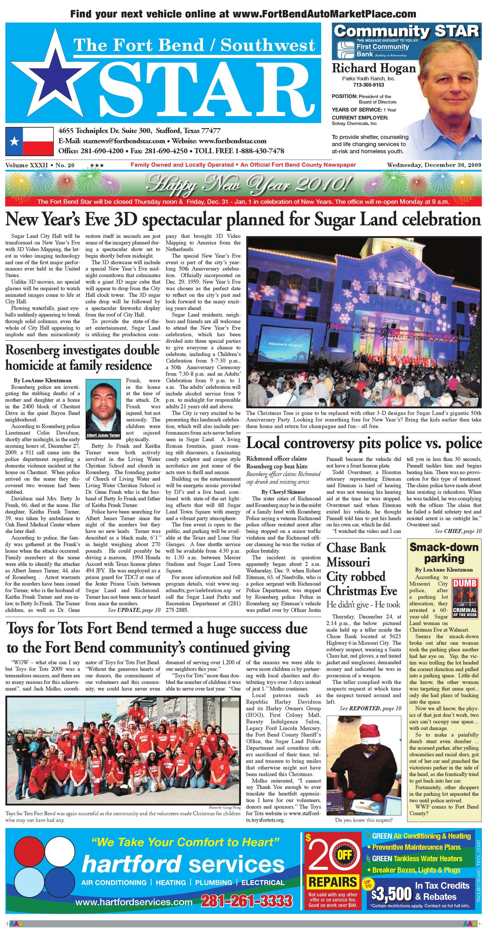 December 30, 2009 by Fort Bend Star Newspaper - issuu