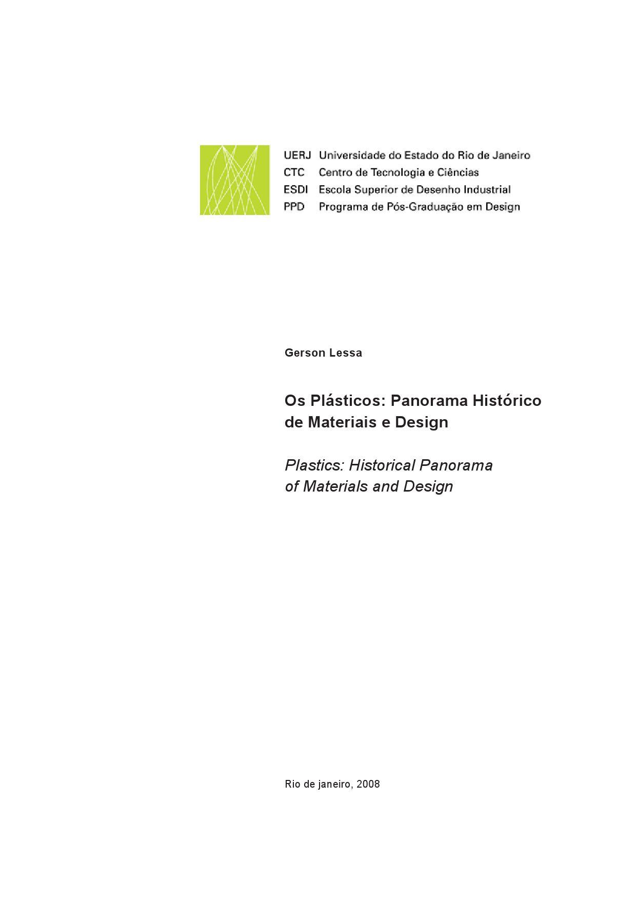 Os plsticos panorama histrico de materiais e design by gerson os plsticos panorama histrico de materiais e design by gerson lessa issuu fandeluxe Image collections