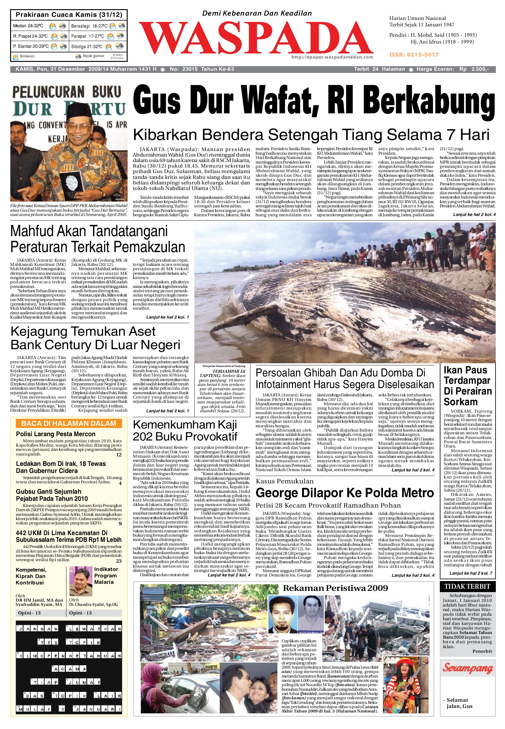 Waspada Kamis 31 Desember 2009 By Harian Issuu Produk Ukm Bumn Barbekyu Kelitik Surabaya
