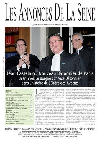 Les Annonces De La Seine 68 Du Jeudi 10 Décembre 2009 By Annonces De