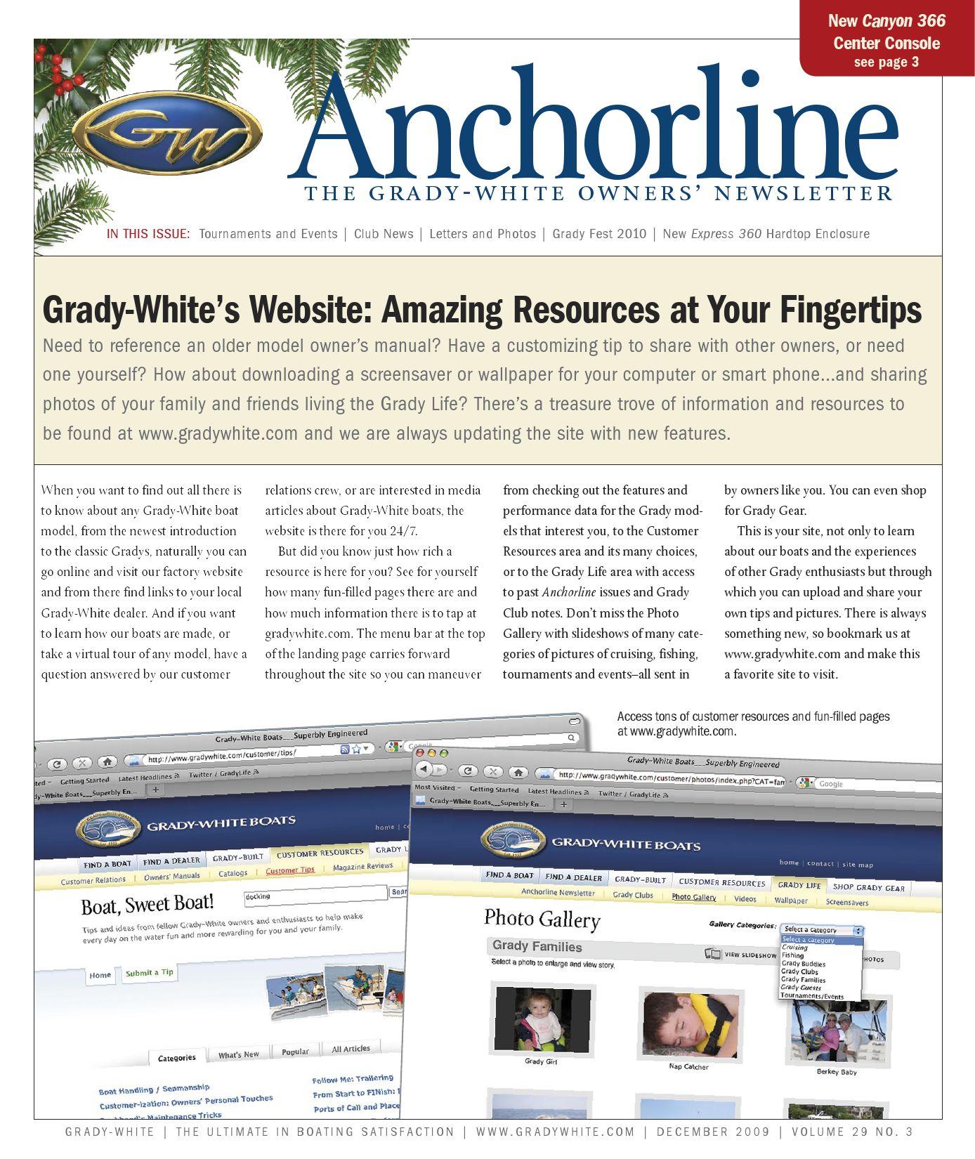 Grady-White Boats December 2009 Anchorline (vol  29 no  3) by Grady