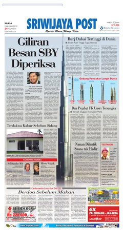 Sriwijaya Post Edisi Selasa 05 Januasi 2010 by Yulius Saputra - issuu 7dd15f3007