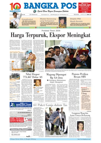 Harian Pagi Bangka Pos Edisi 05 Januari 2010 by bangka pos - issuu 52f9e95a0b