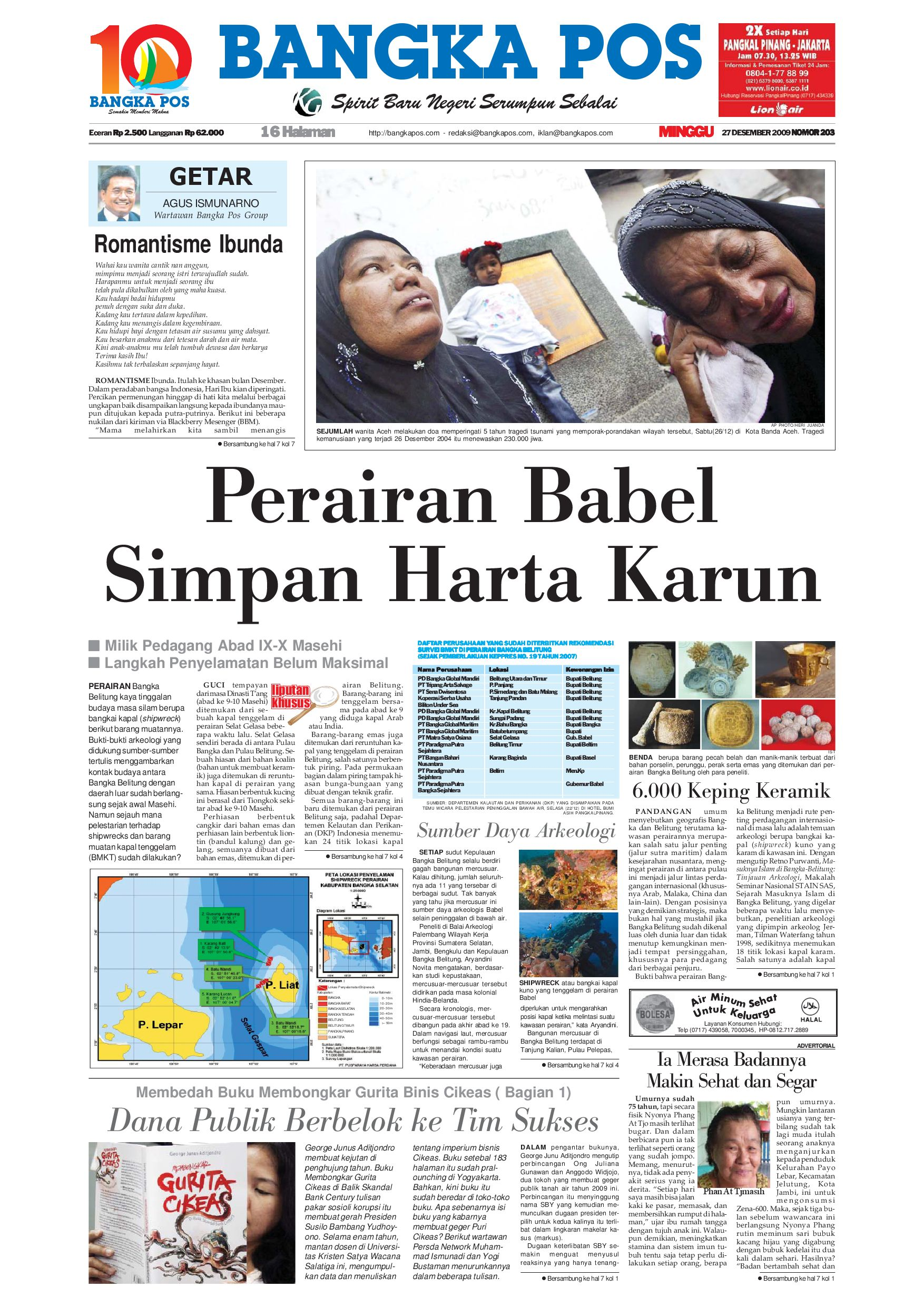 Harian Pagi Bangka Pos Edisi 27 Desember 2009 By Issuu Parcel Makanan Ampamp Kristal Pja 1609