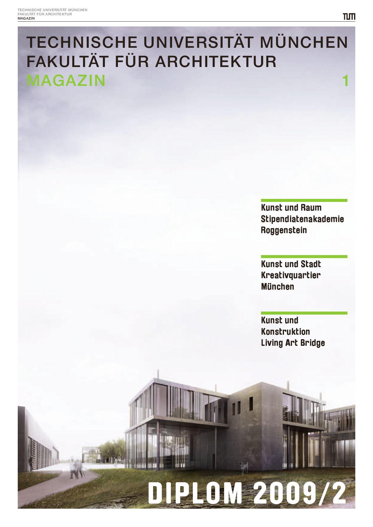 Tum Fakult T F R Architektur Magazin Diplom 2009 2 By