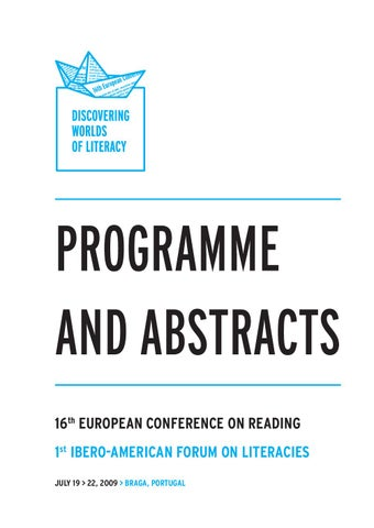 16th european conference on reading book of abstracts parte 1 by page 1 fandeluxe Image collections